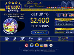 Join at Europa Casino